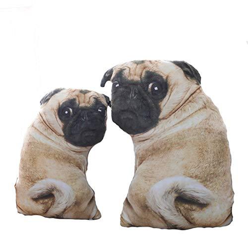 (Simulation Pug Dog Plush Toys Soft Lifelike Stuffed Animals Emulational Plush Dog Pillow Dolls Sofa Cushion Kids Girls Gift)