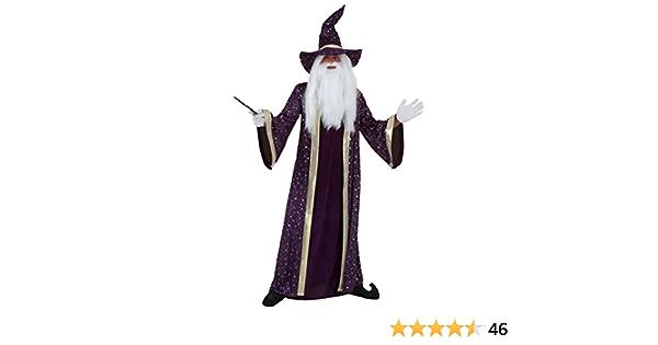 CL113 Purple Wizard Halloween Fancy Dress Adult Costumes