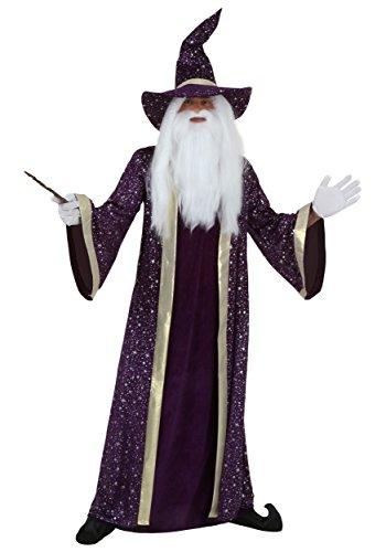 Adult Purple Wizard Costumes (Adult Purple Wizard Costume Medium)