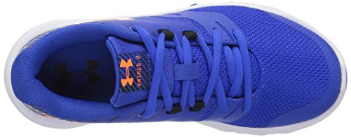 Under Armour Kids Boys Pre School Primed 2 Running Shoe Ultra Blue/White/Magma Orange