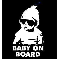 BABY ON BOARD 『男の子』 赤ちゃんが乗っています 車 シール ステッカー ([白])