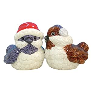 Westland Giftware Mwah Magnetic Holiday Birds Salt and Pepper Shaker Set, 2-3/4-Inch
