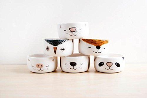Cuencos de cocina de cerámica ( x6) de tamaño pequeño para salsas, helado o frutos secos. Bowls de cerámica. Set de bowls.