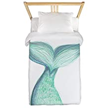 CafePress - A Mermaid Tale Tail 3 001 - Twin Duvet Cover, Printed Comforter Cover, Unique Bedding, Luxe