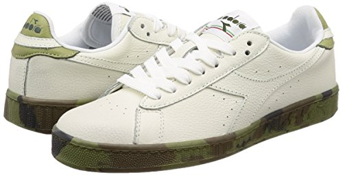 EU Diadora Bianco Low 5 Camou Game 42 Sneaker Waxed Uomo rHZrzWwqU