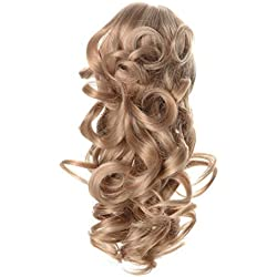 "Onedor 12"" Synthetic Fiber Natural Textured Curly Ponytail Clip In/On Hair Extension Hairpiece (24H613)"