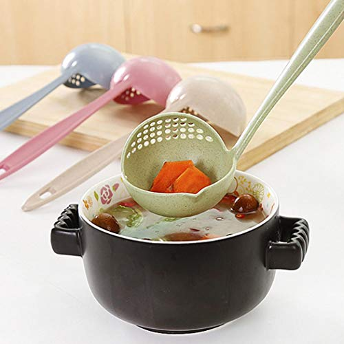 cibenid New Kitchen Hot Pot Soup Spoon Colander 2 in 1 Daily Useful Cooking Tools Kitchen Utensils & Gadgets (Tools New Kitchen)