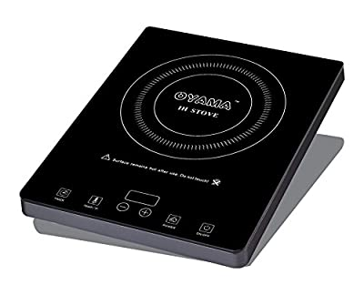 Oyama 1800 Watt Easy Clean - Premier Glass Top Induction Counter Top Burner with Touch Sensitive Controls and Free Steel Wok included