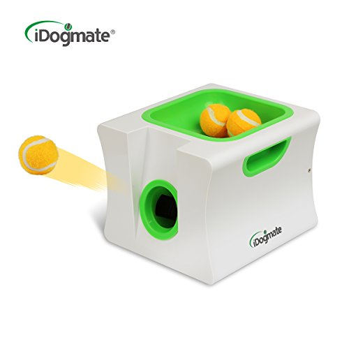 Small Thrower - iDogmate Small Dog Ball Launcher Automatic Ball Thrower for Dogs, Include 1.65