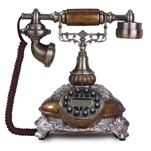 French Style Phone - RFJJ Glaze Color Wired Telephone Antique Telephones French Style Retro Home Landline Telephone Continental Size: 252622cm