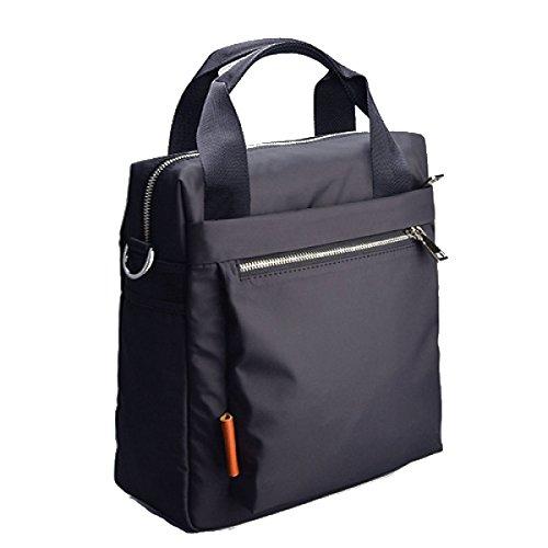 SJLN Men Portable Diagonal Shoulder Bag Oxford Cloth Fashion Waterproof 8 Inch Computer Bag Travel Travel Handbag,Black-OneSize