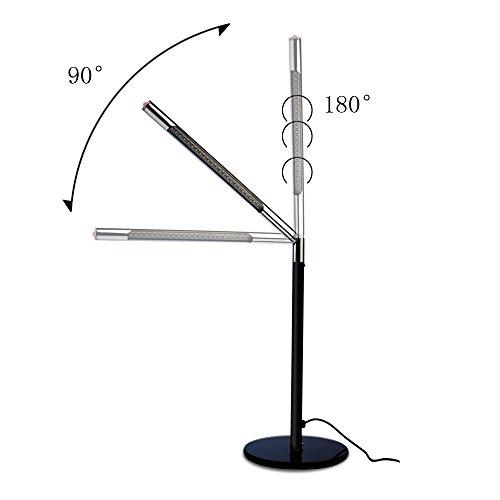 Hogoo 3-Level Eye Protection LED Desk Lamp,90° Adjustable,5V,3Watt,24 Lamp Beads,Black by Hogoo (Image #1)