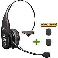 VXi BlueParrott B350-XT Bluetooth Headset - 203475 | Bonus Mic Cushions | NFC Enabled - Smartphones, iPad, Android, iPhones - 24 hours of Talk Time