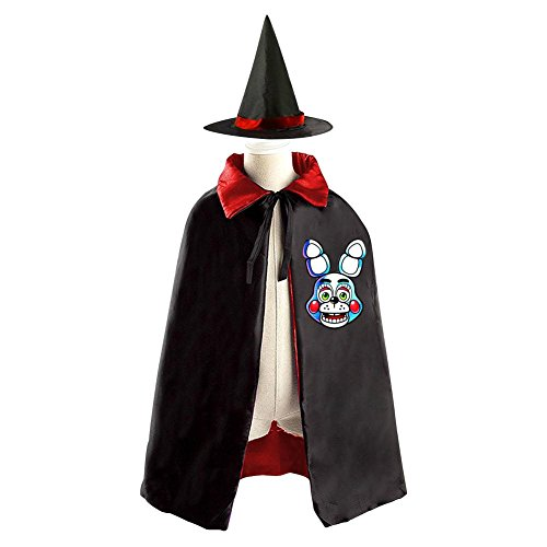 Five Nights at Freddy's Game Kids Halloween Party Costume Cloak Wizard Witch Cape With (Funniest Easy Halloween Costumes)