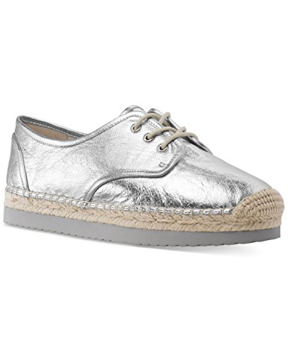 Michael Kors Frauen Leder Fashion Sneaker Silver