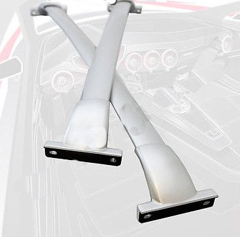 13 15 Roof Rack Cross Bars Set Bolt On Factory Style OE Silver Painted