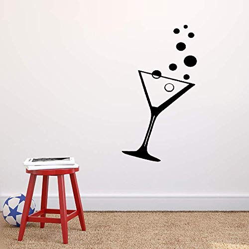 - Ofasy Wall Stickers Inspiring Quotes Home Art Decor Decal Mural Martini Alcohol Cocktail Party Bubbles Night Club