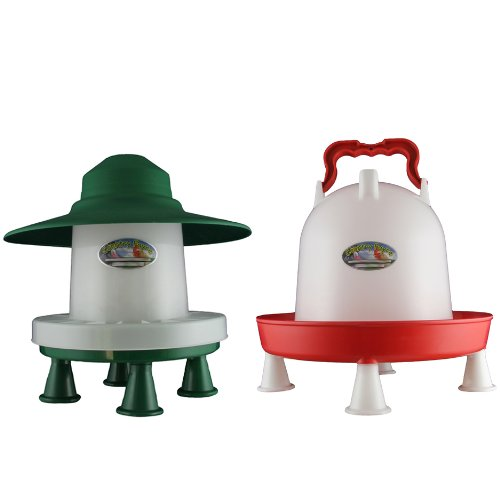 3kg Ascot With Legs and 6 Litre Combination Drinker With Legs Set Country Fayre (UK) Ltd PW03-0032