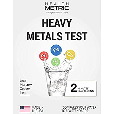 Lead Iron Copper and Mercury - Home Water Test Kit for Well Tap and Drinking Water | Fast & Accurate Quality Testing to EPA Standards | Easy to Use and Sensitive Tester Strips Made in USA