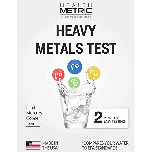 Lead Iron Copper And Mercury Home Water Test Kit For Well Tap And Drinking Water Fast Accurate Quality Testing To Epa Standards Easy To Use And Sensitive Tester Strips Made In Usa