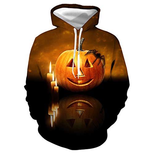 Women Men Halloween Costumes,CapsA Unisex Realistic 3D Digital Print Pullover Hoodie Hooded ()