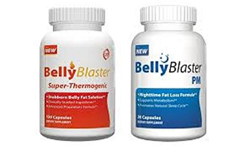 Blaster Belly Kit-24h Diète Poids Ce dernier, Comprend Blaster Belly AM Fat Burner 120 Capsules et ventre Blaster PM Night Time Sleep Aid et Perte de poids formule, Approvisionnement de 30 jours, stimuler le métabolisme, Calories and Burn Fat Belly All Da