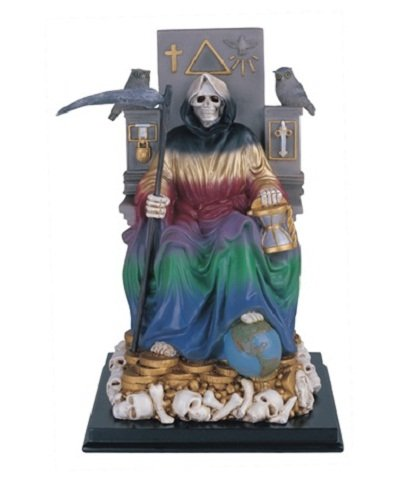 10.75 Inch 7 Color Holy Death Statue La Santisima Santa Muerte Grim Reaper