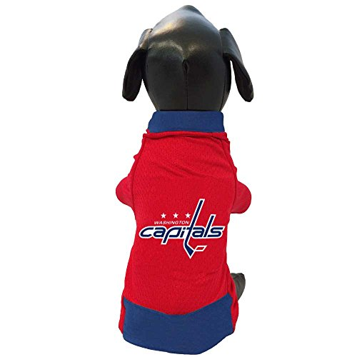 All Star Dogs NHL Washington Capitals Athletic Mesh Dog Jersey, Small, - Jerseys Dog Nhl