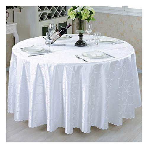 D Round-260cm &Nappes Nappe de table ronde Nappe de conférence Nappe d'hôtel de tissu ronde Nappe nappe de table (Couleur   D, taille   Round-260cm)