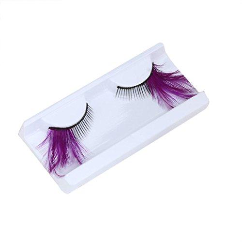False Eyelashes Party Makeup - NewKelly Women Fancy Soft Long Feather False Eyelashes Eye Lashes Makeup Party Club B