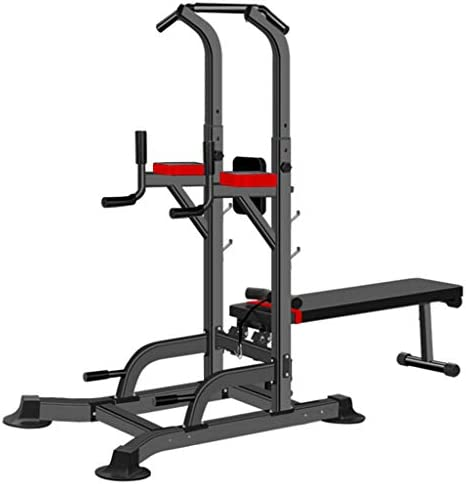 YOG Power Tower Dip Station,Multifunction Pull Up Bar for Home Gym Fitness,Adjustable Strength Training Workout Equipment,Heavy Duty Professional Workout Station, Durable and Stable,330LBS.