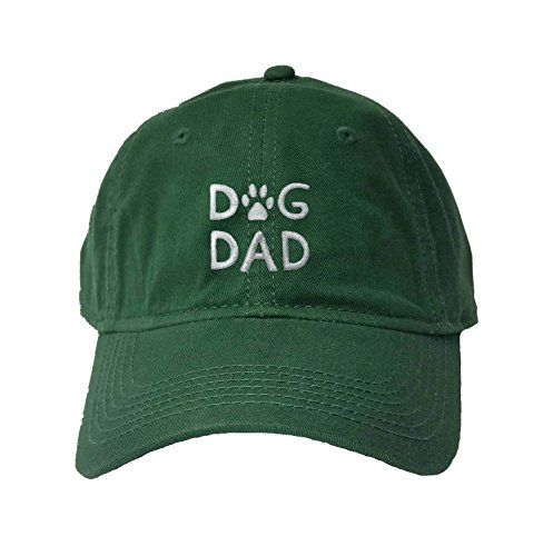 (Go All Out Adjustable Dark Green Adult Dog Dad Embroidered Deluxe Dad Hat)
