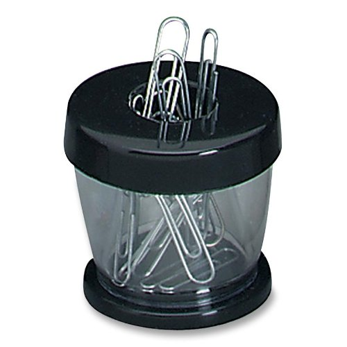 Advantus Paper Clip Caddy, Black/Clear (700B)