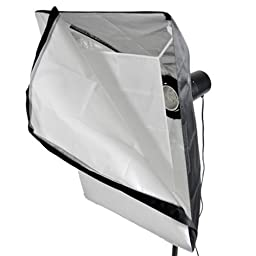CowboyStudio Photo Studio 480 Watt Three Monolight Flash Lighting Kit with Carrying Case - 3 Studio Flash/Strobe, 2 Softboxes, 1 Barndoor, 1 Reflector, 1 Reflective Umbrella, 1 Snoot