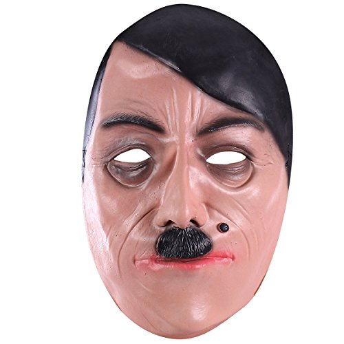 Hophen Celebrity Latex Mask Ideal for Parties Halloween (Hitler Costume)