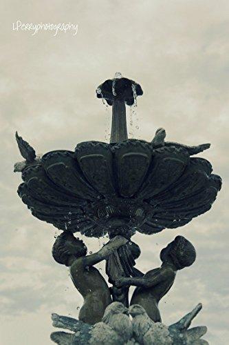 Cherub Fountain Photographic Print