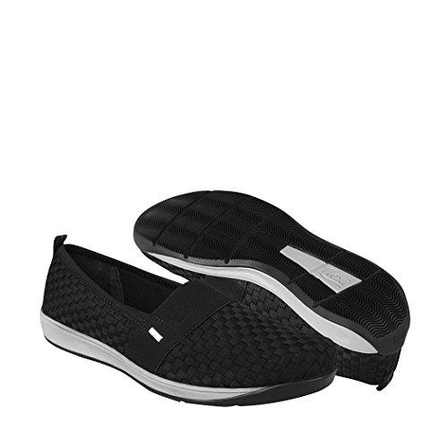 Flexi 28305 Zapatillas de Tenis para Mujer, Color Negro, 24