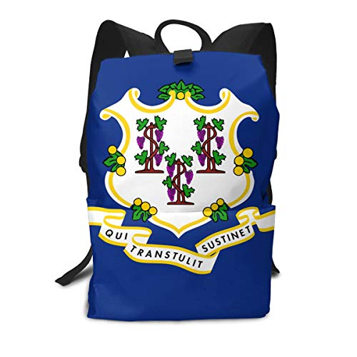 State Of Connecticut Flag Stylish And Sophisticated Adult Backpacks- Travel Backpacks For Men And Women
