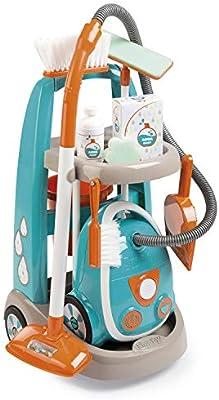 Smoby-Carrito de limpieza con aspirador y accesorios 330309, color ...