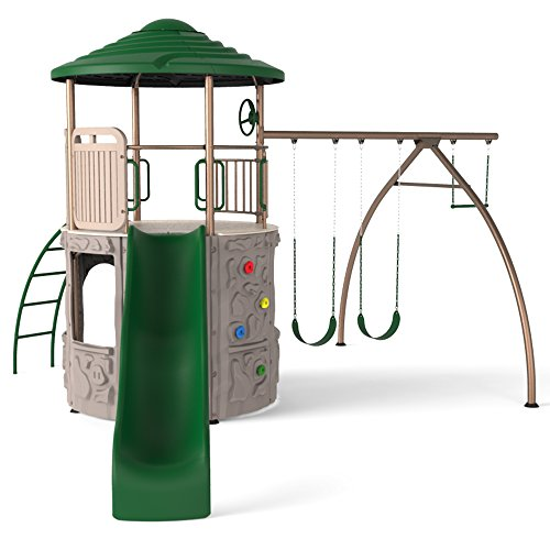 - Lifetime 90440 Adventure Tower Playset, Green
