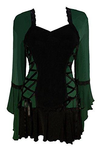 Dare to Wear Victorian Gothic Boho Women's Plus Size Bolero Corset Top Envy - Peasant Corset Burlesque