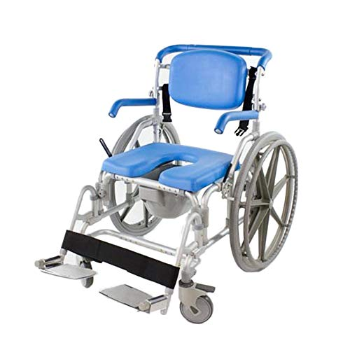 - Bariatric Shower/Commode/Transport Chair, Heavy Duty 600lb Capacity, Padded, Retractable Arm and Foot Rests. Self-Propel Wheels. MaxiBathe Professional Shower Chair