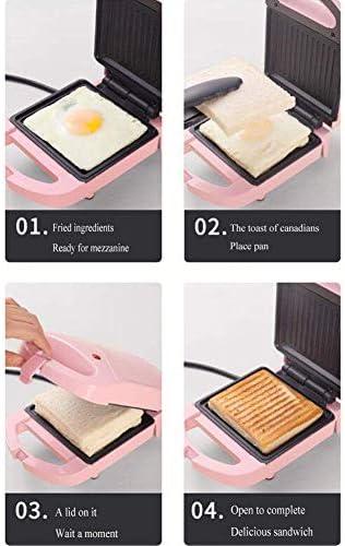 Piccola casa multifunzionale Sandwich, doppio riscaldamento colazione waffle torta di pane Makers macchine antiaderente facile da Clean Touch-safe dsfhsfd