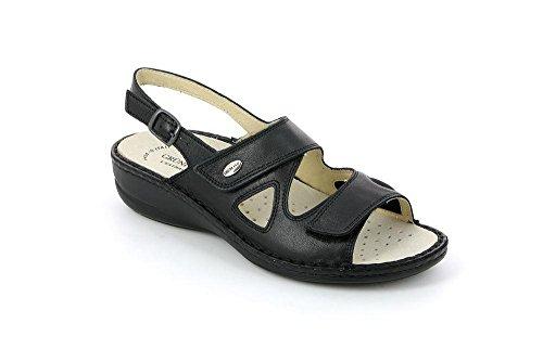 Sandalo DARA 39 P Donna Nero SE0034 Grunland 5BqEE