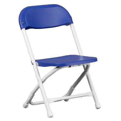 Flash Furniture Kids Blue Plastic Folding Chair