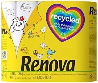 Renova Lot de 2 rouleaux de cuisine 100/% Recycled /& Paper 475 g