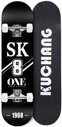 hdfj12142 31x 8 patinetas Completas 7 Capas de Arce Canadiense Doble Cubierta c/óncava patineta Longboard Adulto Retro Crucero para Principiantes ni/ñas ni/ños ni/ños