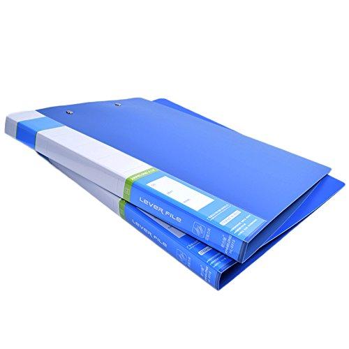 FORSHUYU 3 PCS Commercial File Folder Punchless Binder Office Project Folder School Documents File Folder A4 Size 160 Sheet Capacity Blue