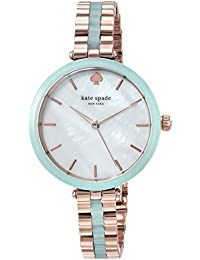 Women's 'Holland' Quartz Stainless Steel Casual Watch, Color:Green (Model: KSW1424)