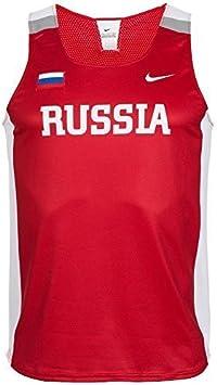 Nike Russia Singlet 713650-611– Camiseta de atletismo y running ...